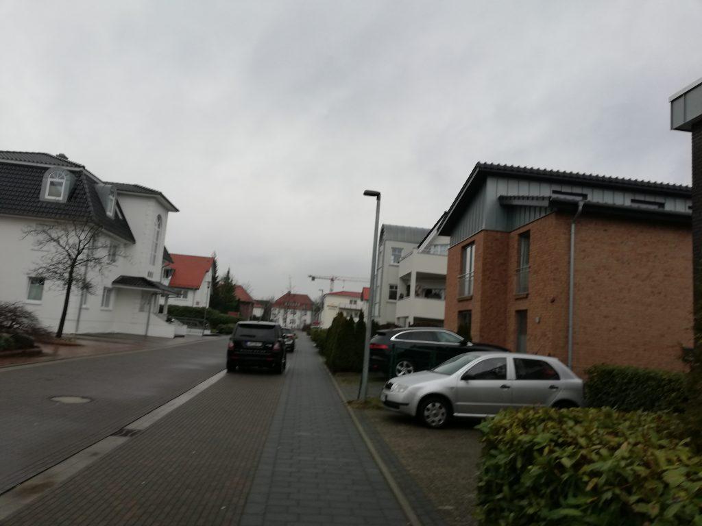 Pedersens Hotel til højre, mange store villa'er